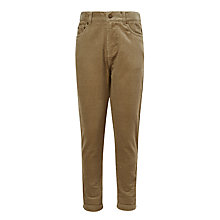 Buy John Lewis Boys' Skater Fit Corduroy Trousers, Natural Online at johnlewis.com