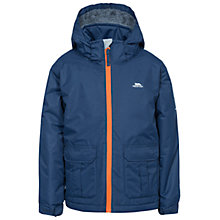 Buy Trespass Boys' Fleminton Hooded Jacket, Navy Online at johnlewis.com