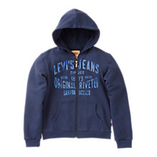 Buy Levi's Boys' Will Zip Through Hoodie, Navy Online at johnlewis.com