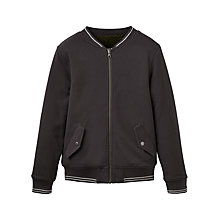 Buy Little Joule Boys' Junior Reversible Kenickie Bomber Jacket, Dark Grey Online at johnlewis.com