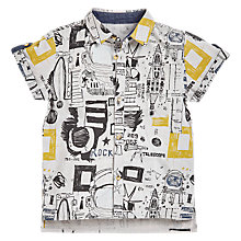 Buy Angel & Rocket Boys' Graphic Short Sleeve , Grey Online at johnlewis.com