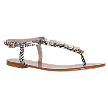 Buy Carvela Ballet Toe Post Sandals, Beige Comb Online at johnlewis.com