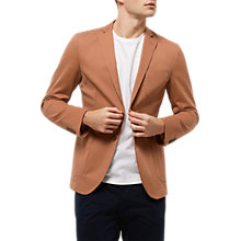 Buy Jaeger Cotton Unstructured Blazer, Harvest Online at johnlewis.com