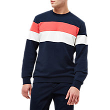 Buy Jaeger Broken Stripe Sweatshirt, Navy Online at johnlewis.com