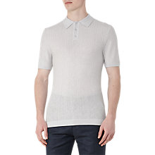 Buy Reiss Ramsey Textured Wool Linen Polo Shirt, Grey Online at johnlewis.com