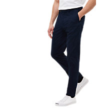 Buy Jaeger Garment Dyed Cotton Regular Fit Chinos, Navy Online at johnlewis.com