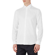 Buy Reiss Time Textured Cotton Slim Fit Shirt, White Online at johnlewis.com