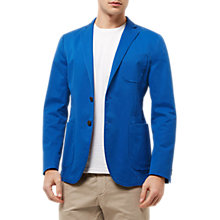 Buy Jaeger Cotton Unstructured Blazer, Blue Online at johnlewis.com