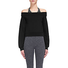 Buy Whistles Bardot Sweat Top, Black Online at johnlewis.com