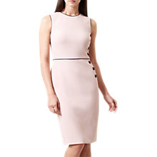 Buy Hobbs Zoey Button Dress, Blossom Pink Online at johnlewis.com