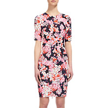 Buy Whistles Wild Floral Phoebe Bodycon Dress, Pink/Multi Online at johnlewis.com