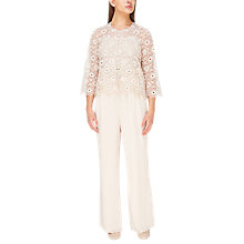 Buy Jacques Vert Sequin Embroidered Anglaise Jacket, Mid Neutral Online at johnlewis.com