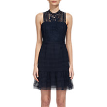Buy Whistles Flo Embroidered Dress, Navy Online at johnlewis.com