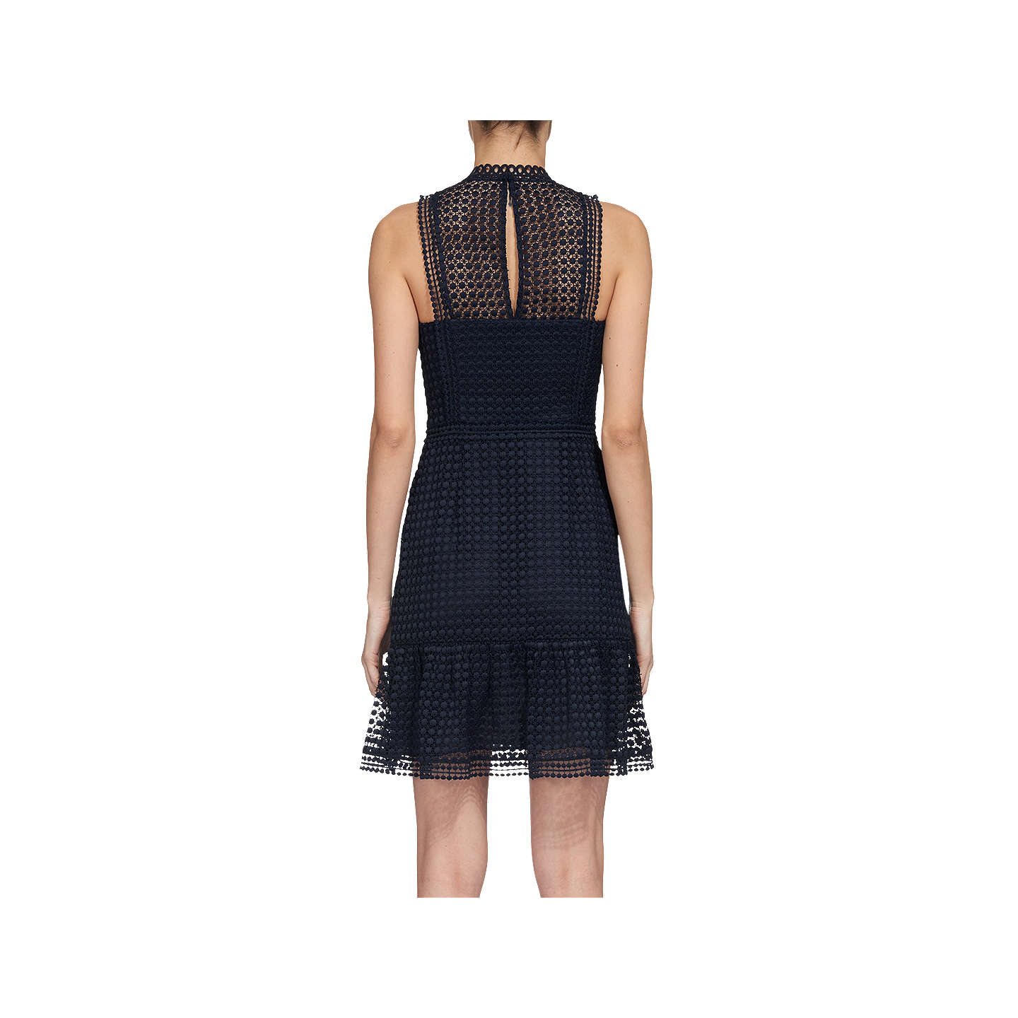 BuyWhistles Flo Embroidered Dress, Navy, 6 Online at johnlewis.com