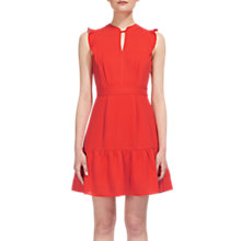 Buy Whistles Frill Sleeve Dress, Red Online at johnlewis.com