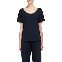 Buy Whistles Relaxed Cut Out Back T-Shirt, Navy Online at johnlewis.com