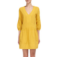 Buy Whistles Charlie Textured Flippy Dress, Yellow Online at johnlewis.com