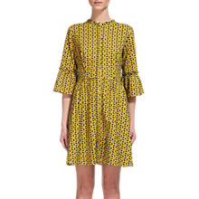 Buy Whistles Floral Broderie Dress, Yellow/Multi Online at johnlewis.com