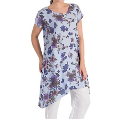Chesca Floral Print Tunic, Blue/Purple