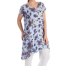 Buy Chesca Floral Print Tunic, Blue/Purple Online at johnlewis.com
