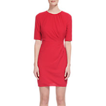 Buy Whistles Jocelyn Textured Bodycon Dress, Raspberry Online at johnlewis.com