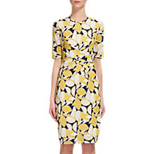 Buy Whistles Phoebe Lemon Print Bodycon Dress, Yellow/Multi Online at johnlewis.com