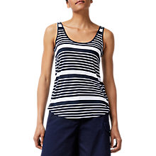 Buy Warehouse Swing Vest Top, Blue Stripe Online at johnlewis.com