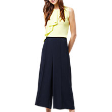 Buy Warehouse Pintuck Culottes, Navy Online at johnlewis.com