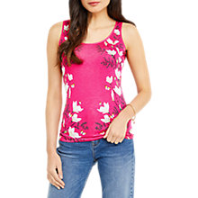 Buy Oasis Magnolia Placement Vest, Multi Pink Online at johnlewis.com