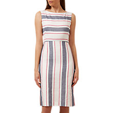 Buy Hobbs Cotton-Linen Summer Stripe Dress, Multi Online at johnlewis.com