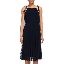 Buy Whistles Lilian Pleated Lace Mix Dress Online at johnlewis.com