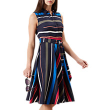 Buy Hobbs Stripe Joyce Shirt Dress, Navy Stripe Online at johnlewis.com