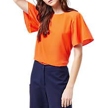 Buy Warehouse Pleated Sleeve Top Online at johnlewis.com