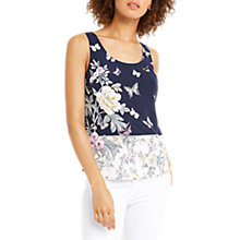 Buy Oasis Papillon Placement Print Vest, Multi Blue Online at johnlewis.com