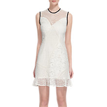 Buy Whistles Cassie Mix & Match Cotton Lace Dress, White Online at johnlewis.com