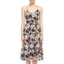 Buy Whistles Lemon Print Strappy Wrap Dress, Yellow/Multi Online at johnlewis.com