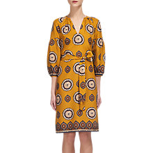 Buy Whistles Tahlia Surya Silk Dress, Yellow/Multi Online at johnlewis.com
