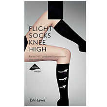 Buy John Lewis Knee High Flight Socks, Black Online at johnlewis.com