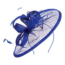 Buy Coast Delina Loop and Feather Quills Fascinator, Cobalt Online at johnlewis.com
