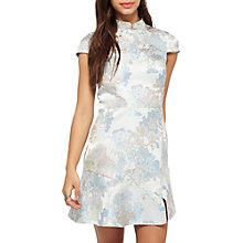 Buy Miss Selfridge Jacquard Chinoise Dress, Blue Online at johnlewis.com