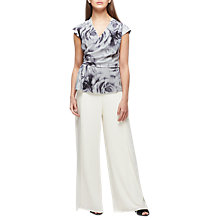Buy Jacques Vert Rose Print Top, Multi/Black Online at johnlewis.com