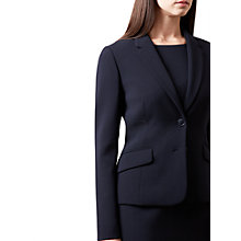 Buy Hobbs Catherine Jacket, Navy Online at johnlewis.com