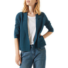 Buy Jigsaw Merino Milano Collar Jacket, Sea Green Online at johnlewis.com