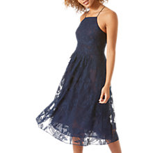 Buy Jigsaw Embroidered Halter Dress, Blue Online at johnlewis.com