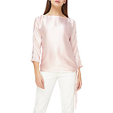 Buy Jacques Vert Tie Side Fringe Top, Pastel Pink Online at johnlewis.com