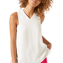 Buy Jigsaw Cady Wide Strap Top, Ivory Online at johnlewis.com