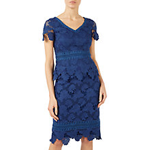 Buy Jacques Vert Lace Border Top, Dark Blue Online at johnlewis.com