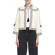 Buy Whistles Tassel Trim Detail Jacket, Ivory Online at johnlewis.com
