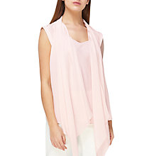 Buy Jacques Vert Soft Drape Top, Pastel Pink Online at johnlewis.com