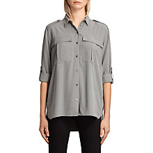Buy AllSaints Millie Shirt, Khaki Online at johnlewis.com